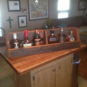 Click to enlarge image  - Mooneyham Brothers Furniture Invents a beautiful Rustic Whiskey Rack! -